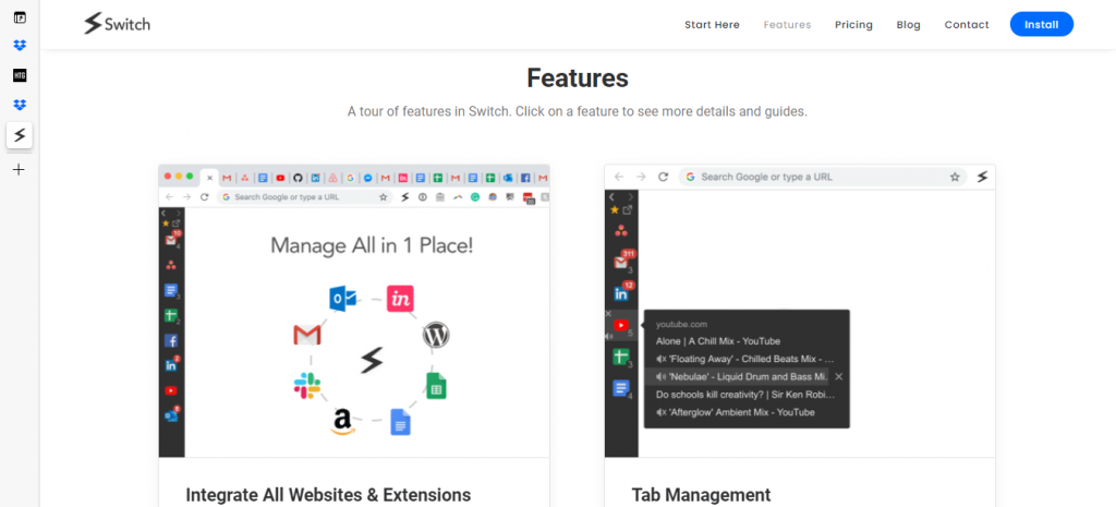 switch browser extension
