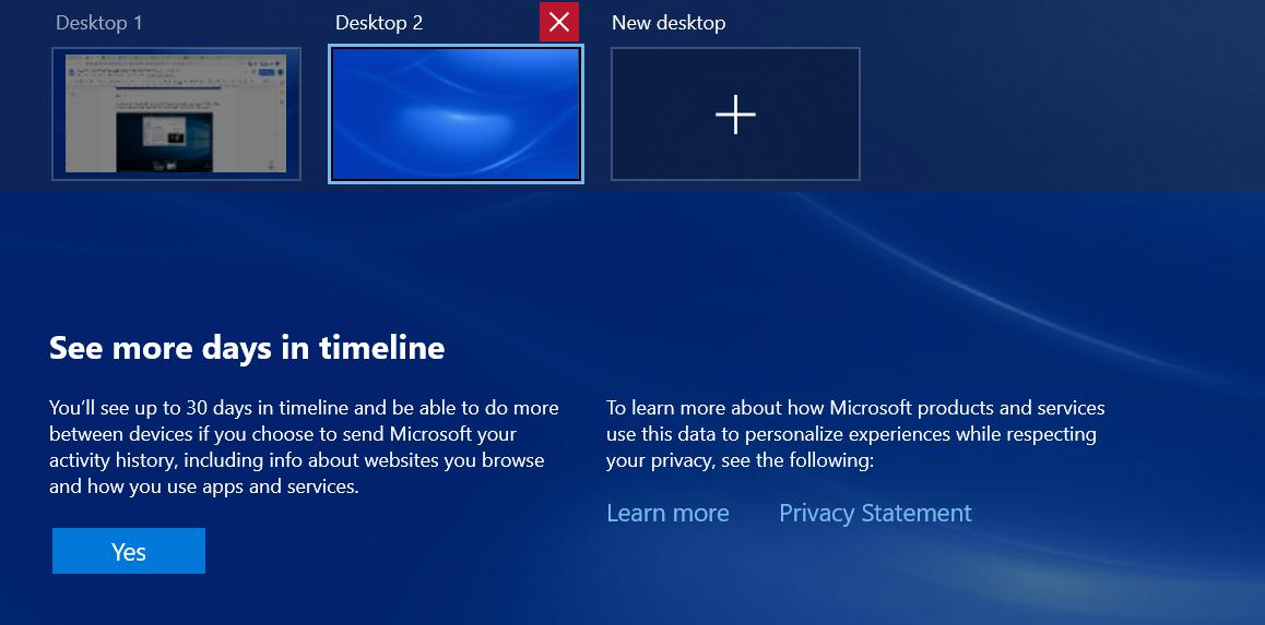 switching between virtual desktops